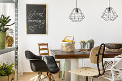 Home interior with table stock image
