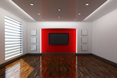 Home interior with television Stock Images