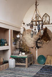 Home interior traditional decoration in yazd iran Royalty Free Stock Photo