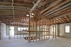 Home interior under construction Stock Images