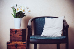 Home interior, vintage chair Royalty Free Stock Photography
