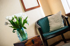 Home interior, vintage chair Royalty Free Stock Photos