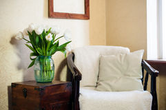 Home interior, vintage chair Stock Photo