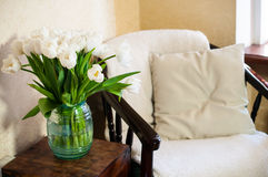 Home interior, vintage chair Royalty Free Stock Images