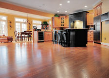 Home Interior With Wood Floor stock photos