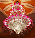 Home interiors Chandelier on ceiling Stock Images