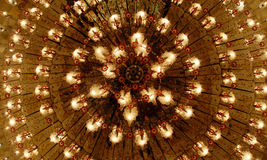 Home interiors Chandelier on ceiling Royalty Free Stock Images
