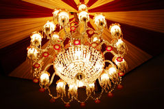 Home interiors Chandelier on ceiling Royalty Free Stock Photography
