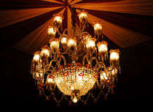 Home interiors Chandelier on ceiling Stock Photography