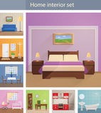 Home interiors vector set Stock Photo
