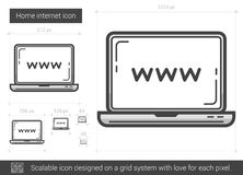 Home internet line icon. Royalty Free Stock Images