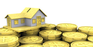 Home Investment. A 3D illustration to illustrate home investment Stock Photos