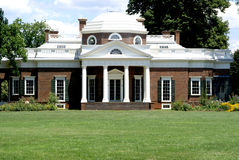 home jefferson monticello Arkivbilder