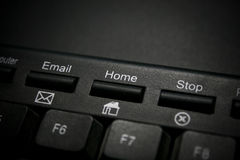 Home Key. A close-up image of a Home Key on a Keyboard Stock Photo