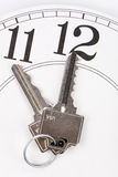 Home key. And clock, Real Estate Marketing Concept stock images