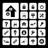 Home key and car key symbol Stock Photos
