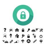 Home key and car key symbol Stock Photo