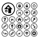 Home key and car key symbol Stock Photography