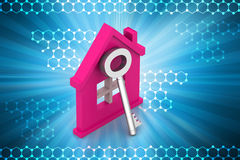 Home with key Stock Image