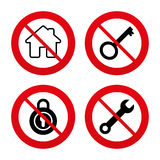 Home key icon. Wrench service tool symbol Royalty Free Stock Photo