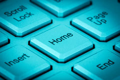 Home key on a keyboard Royalty Free Stock Photo