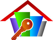 Home key logo Royalty Free Stock Images