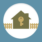 Home With Key Property Concept Royalty Free Stock Photo