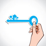 Home key on your hand vector illustration