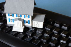Home Keyboard Concept Stock Photography