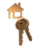 Home keys. 3d illustration of home keys isolated over white background Stock Photo