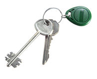 Home keys stock photo