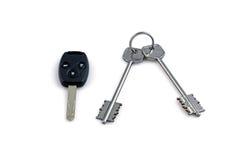 Home keys and car key. Home keys and black car key stock image