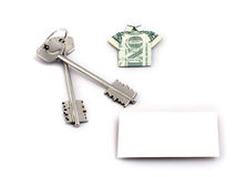Home keys & dollar Stock Photo