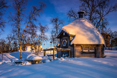 A home in Kiruna, Sweden. A home in the town of Kiruna, Sweden Royalty Free Stock Photography