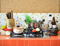 Home kitchen. Prepare for cooking Royalty Free Stock Images