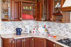 Home kitchen. Interior real estate home kitchen Royalty Free Stock Images