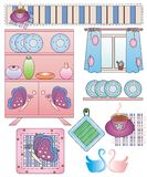 Home kitchen. Several elements of design of home kitchen Stock Photography