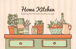 Home kitchen Royalty Free Stock Photo