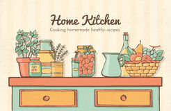 Home kitchen Stock Photography