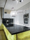 Home kitchen. Design, lighting and elements Stock Photo