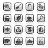 Home kitchen equipment icons Stock Photos