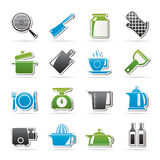 Home kitchen equipment icons Stock Image
