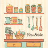 Home kitchen Royalty Free Stock Photography