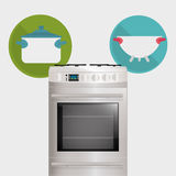 Home Kitchen icons design Royalty Free Stock Images