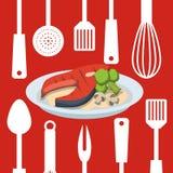 Home Kitchen icons design Stock Photos