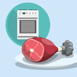 Home Kitchen icons design Stock Images
