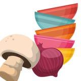 Home Kitchen icons design Royalty Free Stock Photos