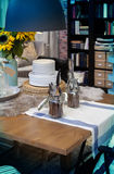 Home kitchen table. Detail of cozy home decoration Royalty Free Stock Photography