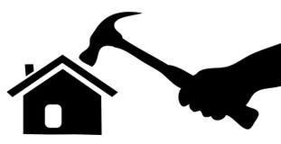 Home konstruktion stock illustrationer