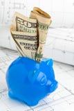Home konstruktionsfinansiering Arkivbilder